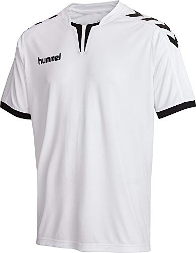 hummel Core SS Poly - Camiseta para Hombre, Hombre, Camiseta, 003636-9006, White Pr, Medium
