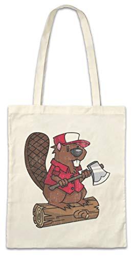 Urban Backwoods Lumberjack Biever Hipster Bag Beutel Stofftasche Einkaufstasche