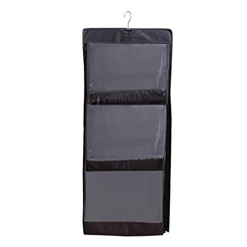 SMEJS 3/4 Pockets Shelf Tote Bag Bag Transparente Colgante Purso Bolso Organizador Titular de Almacenamiento Armario Armarios Homewares (Color : B)
