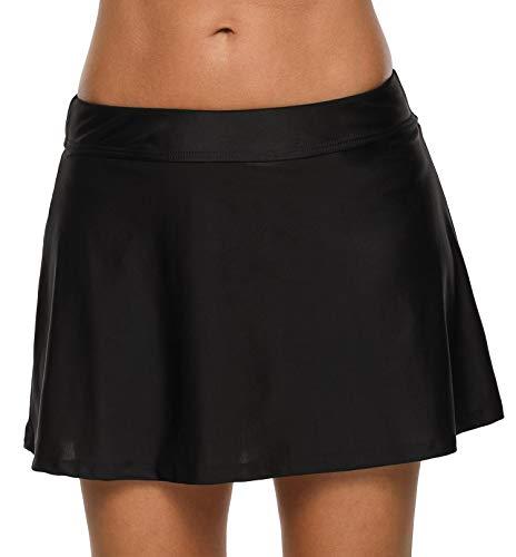 Anwell Schwimmen Rock Unterhoses Für Damen Bikini Rock schlank Badeanzug Schwarz M
