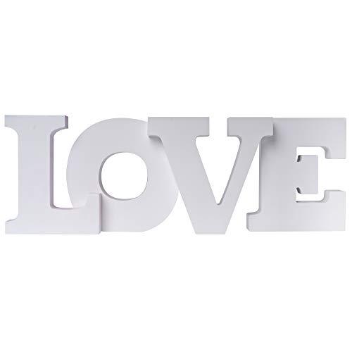 elbmöbel Love Home, lettere shabby chic in legno, lettere decorative, colore bianco
