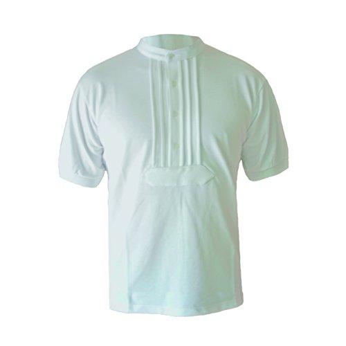 Zunft-Polo-Hemd, 100% Baumwolle, halbarm (L, weiß)