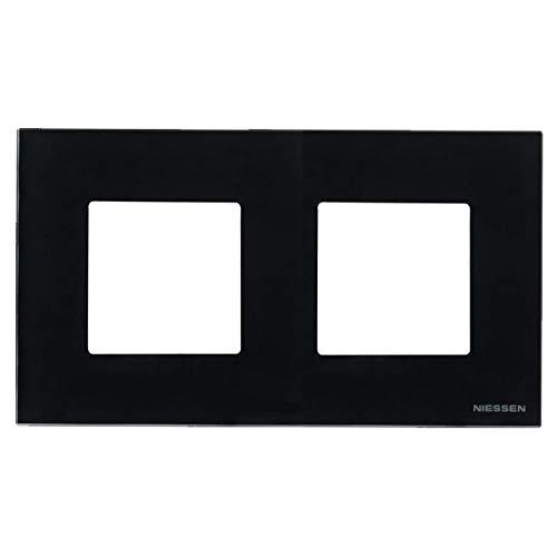Niessen zenit - Marco 2 elementos serie zenit cristal negro