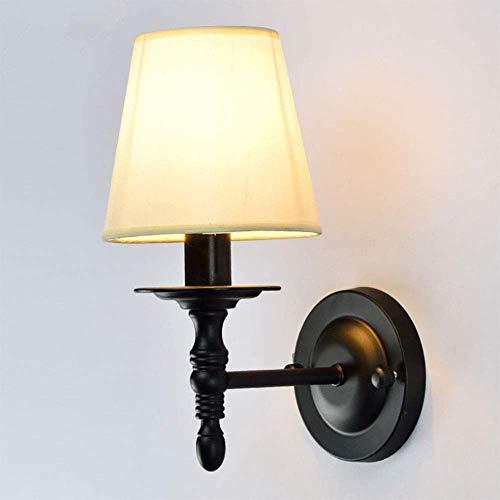 Aplique sala dormitorio led industrial moderno arr Luces del enchufe de pared Lámparas Negro for el dormitorio de la sala de lectura - pantalla de tela, País lámpara de pared de la lámpara europea cab