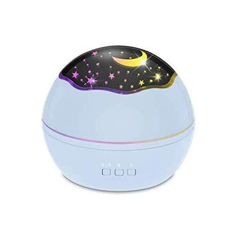Proyector Estrellas, Star Light Proyector LED Y 360° Silencioso Rotación Luz Nocturna Infantil, 8 Colores Regalo para Niños y Bebés Cumpleaños, Día de los Reyes, Navidad (Blue)