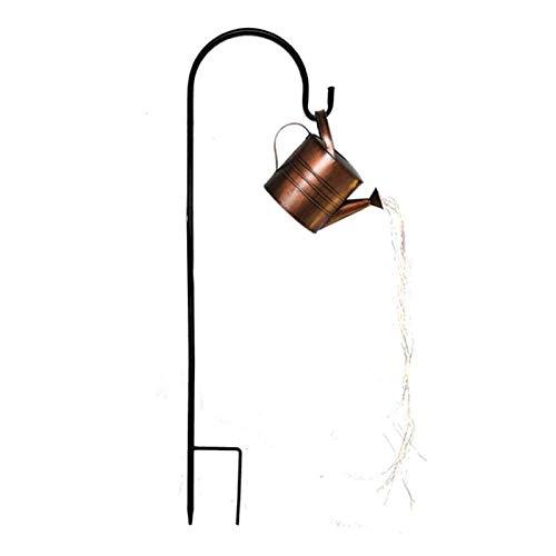 Copper Wire Garden Light Garland, Fairy Lights, String Lights, LED Lamps Garden Art Light Decoration (Color : Black, Size : Bracket+shower+light)