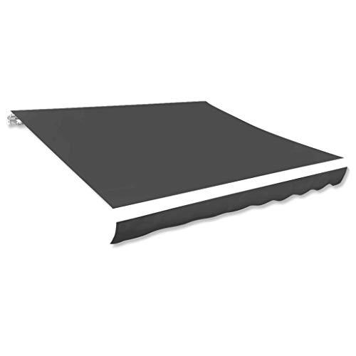 vidaXL Markisenstoff Sonnenschutz Markisentuch Anthrazit 500×300 cm Segeltuch