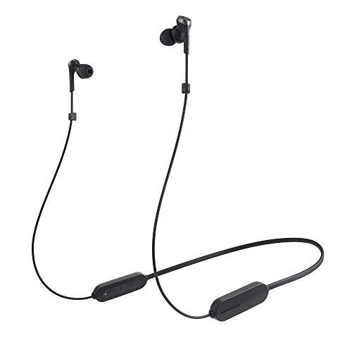 audio-technica SOLID BASS ワイヤレスイヤホン 重低音 防滴仕様 最大約20時間連続再生 ブラック ATH-CKS330XBT BK