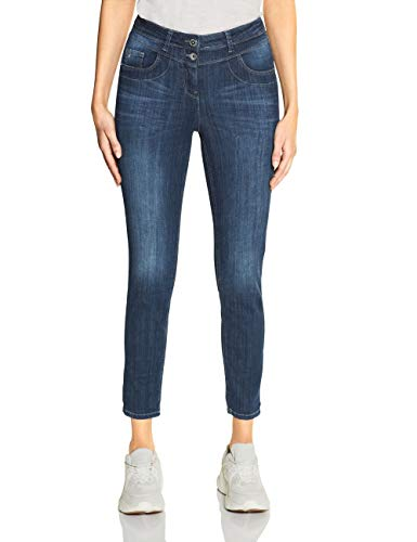 CECIL Damen 372909 Toronto Jeans, Blau(Dark blue wash)W34/L28