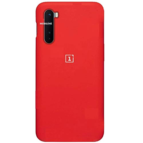MOBILOVE Pure Liquid Soft Matte Silicone Case with Camera and Screen Protection for | OnePlus Nord (Red)