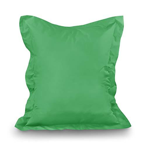Sconosciuto Pouf XL-XXXXL, Cuscino da Pavimento, Sacco per Interni ed Esterni, Verde Chiaro, XXXL= 180 x 145