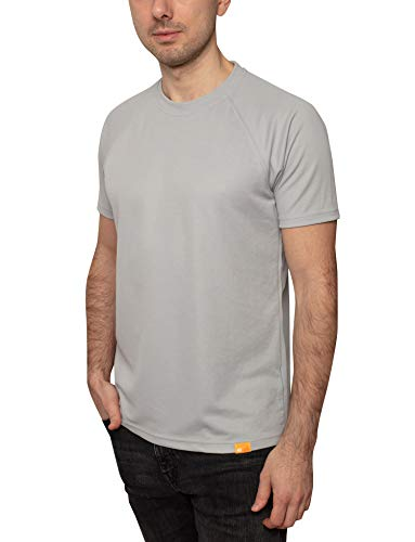 iQ-UV T-shirt pour homme 50+ - Coupe normale - Gris froid - Taille 6XL/64