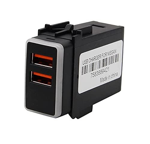RJJX Cargador de Coche Dual USB 12V QC3.0 Voltímetro de LED Adaptador de Corriente con Pantalla de Voltaje Digital Ajuste para Nissan (Color Name : No Voltmeter)
