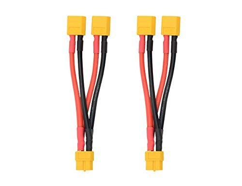 2pcs XT60 Parallel Battery Connector Cable Extension Y Splitter for DJI Phantom RC Mode Helicopter Quadcopter