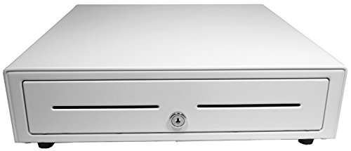 APG VB320-AW1616 Vasario Series Standard-Duty Cash Drawer with MultiPRO Interface, Painted Front, 16.3' x 16.2' x 4.3', White
