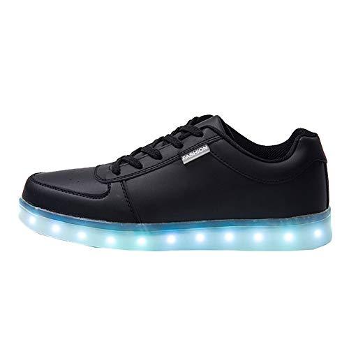 Topcloud Die LED der Frauen der Männer leuchten Schuhe 8 Farben USB, das Oben herauf Paare Schuhe auflädt