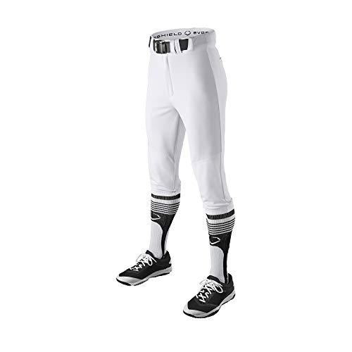 EvoShield Adult Throwback Knicker Uniform Pants, Team White - Medium