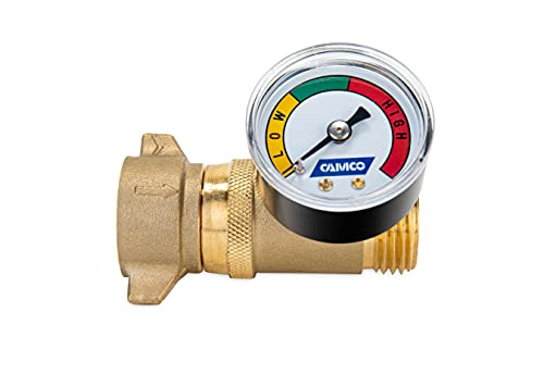 Camco Brass Water Pressure Regulator with Gauge