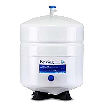 iSpring T32M Pressurized Water Storage Tank with Ball Valve for Reverse Osmosis RO Systems, 4 Gallon