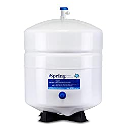 powerful ISpring T32M Pressurized water storage tank, with ball valve for reverse osmosis system, 4…
