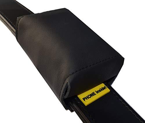josi.li Trackertasche Nappaleder schadstofffrei für XL-GPS-Sender 80x49x29mm in 2 Farben (Schwarz)