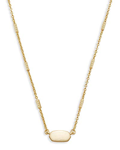 Kendra Scott Fern Pendant Necklace for Women, Dainty Fashion Jewelry, 14k Gold-Plated