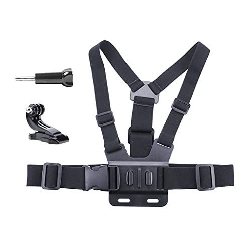 kdjsic Action Kamera Brustgurt J-Buchse Edelstahl Lange Schraubenkombination Go-Pro 9 Brustgurt Zubehör Hero 8