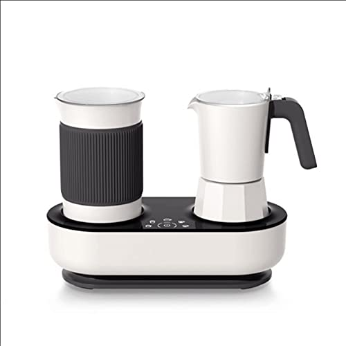 Coffee Maker Capsule Coffee Machine Automatic Milk Frother Moka Pot Espresso Coffee Latte and Cappuccino Maker Black and White Coffee Brewer (Color : White)