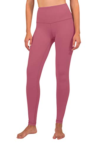 Yogalicious Super High Waist Soft Nude Tech Womens Leggings - Coral Berry - XS