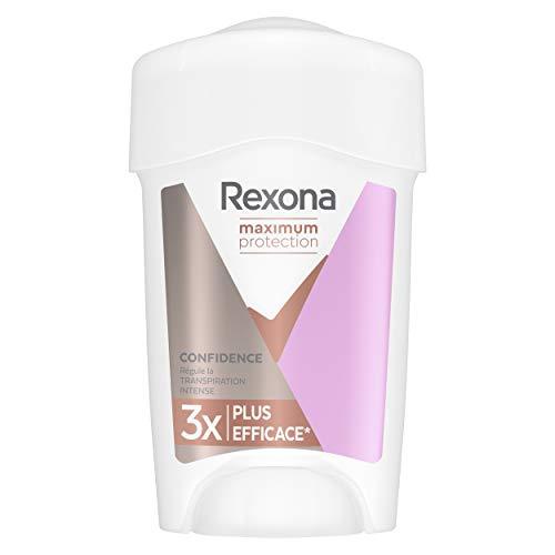 Rexona Déodorant Femme Stick Anti-Transpirant Maximum Protection Confidence, Antibactérien, Sans Alcool et sans Paraben, Efficacité 24h, 45ml