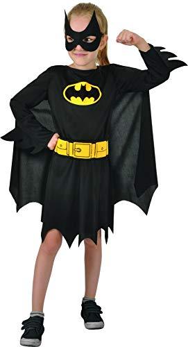 Ciao 11675.5-7 Batgirl Disfraz de Niña Original Dc Comics (Tamaño 5-7 Años), Color Negro