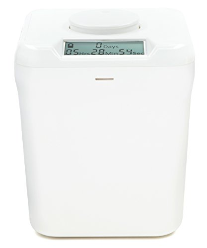 Kitchen Safe Verschlussbehälter mit Zeitschaltuhr White Lid + White Base