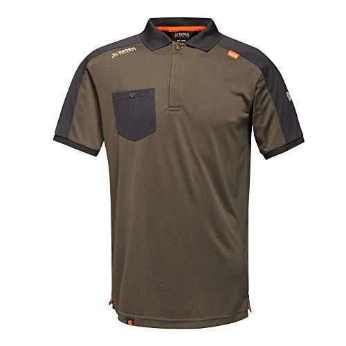 Regatta Polo de Travail Homme Tactical Threads Évacuant Rapidement L'humidité Offensive T-Shirts/Polos/Vests Homme Dark Khaki FR: XL (Taille Fabricant: XL)