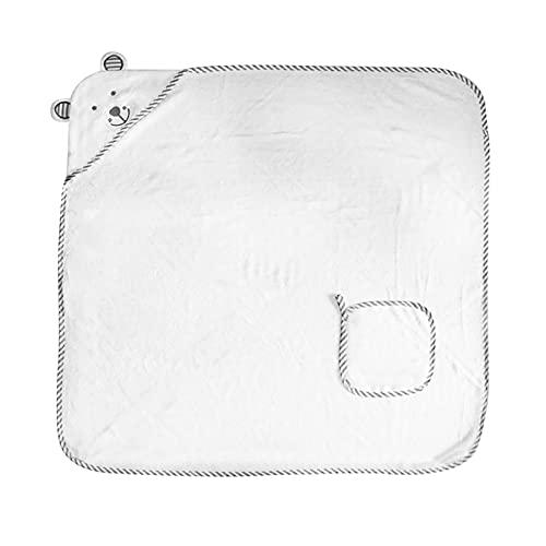 LUBINGT Toallas para toalla de baño Juego de toallas de baño de bebé de bambú orgánico toalla de baño extra suave y gruesa toalla con capucha para recién nacido (color: R)