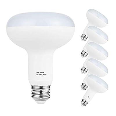 BR30 LED Light Bulbs Dimmable, E26 Bulb Base, 12W Equivalent 100W Flood Light Bulb, 120V BR30 3000K LED Soft White, 1200LM, 6 Pack