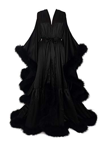 Old Hollywood Feather Robe