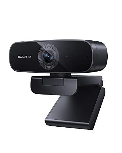 BCMASTER Webcam 1080P Full HD avec Deux Microphones Stéréo et Correction Automatique des Couleurs, Webcam USB pour PC et Ordinateur Portable pour Les Réunions Zoom et L enregistrement Vidéo