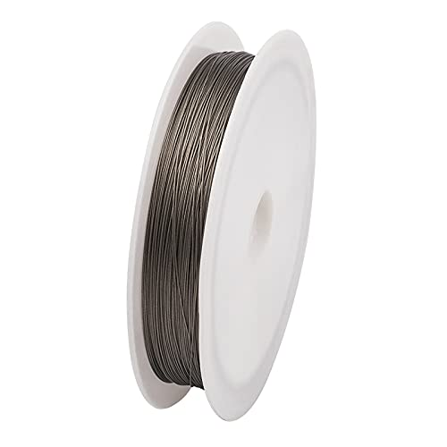 Fashewelry 0.3mm Tiger Tail Beading Wire 164 Feet Stainless Steel Metal Craft String with Spool for Jewelry DIY Making