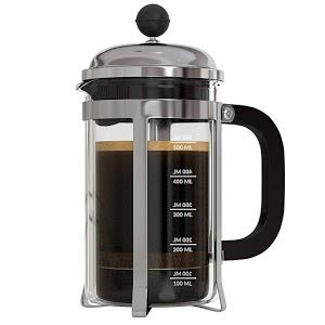 InstaCuppa French Press Coffee Maker with 4 Part Superior Filtration, Premium Grade Stainless Steel Coffee Plunger, 1000 ML