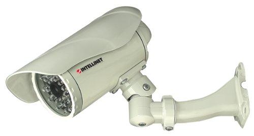 INTELLINET NBC30-IR Outdoor IP Kamera MPEG4 + Motion-JPEG Dual Mode IP67 PoE Audio 300k CMOS Tag/Nacht Progressive-Scan Bildsensor