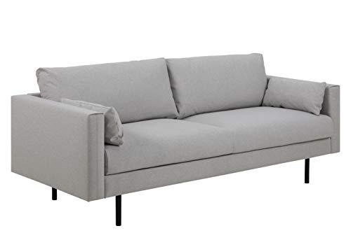 Movian Morat - Sofá de 2,5 plazas, 86 x 210 x 86 cm (largo x ancho x alto), gris claro
