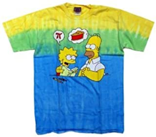 MMM PI The Simpsons Homer Funny Pie Tie Dye T-Shirt 2XL tiedye tie dye