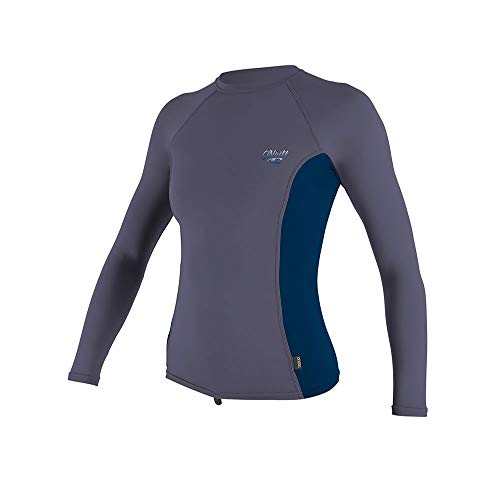 O';Neill Womens Premium - Skins Long Sleeve Rash Vest Top Dusk Abyss - Schnell Dry UV Sonnenschutz und SPF - Eigenschaften