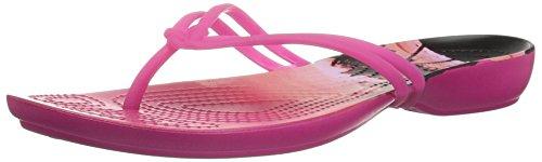 crocs Damen Isabella Graphic Zehentrenner, Pink Candy Pink Tropical, 41/42 EU