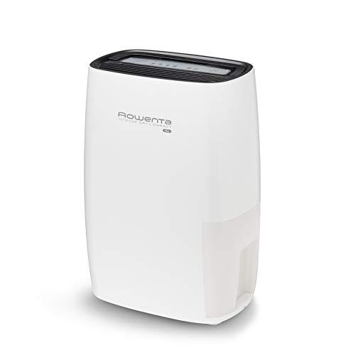 Rowenta Intense Dry Compact DH4212F0 Deshumidificador 12 l para hasta 26 m² con depósito de 3 l, silencioso con control y apagado automático, facilita secado ropa, filtrado de polvo