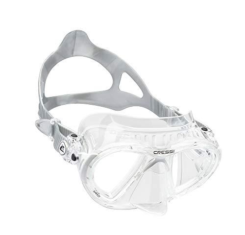 Cressi Nano Crystal Máscara, Unisex, Transparente/Blanco