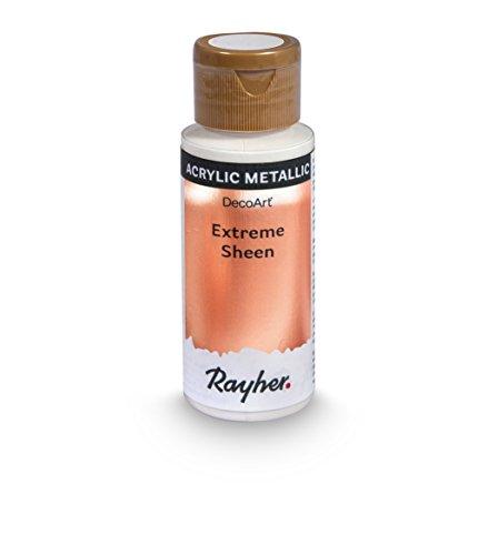 Rayher Hobby 35014626 Extreme Sheen Metallic-Farbe, roségold, Flasche 59 ml, Acrylfarbe metallic, patentierte Rezeptur