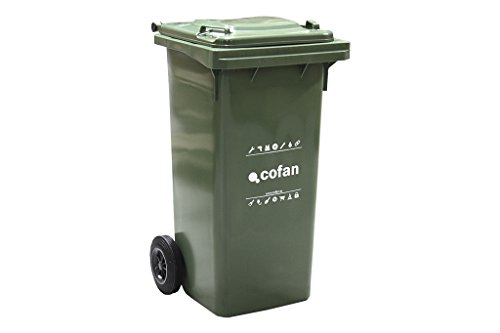 Cofan 21201501 Contenedor 2 Ruedas, Verde, 55x48x91 cm