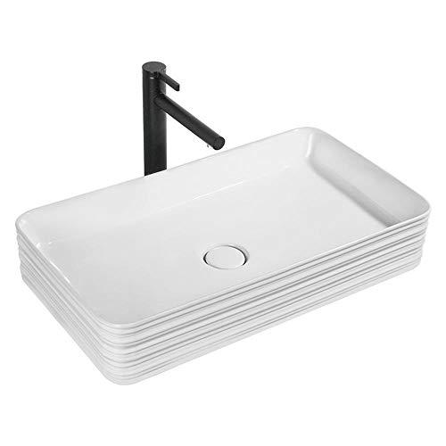 Chyuanhua garderobe wastafel moderne stijl hoekkast badkamer Vanity tops wit keramische wastafel Geschikt voor badkamer