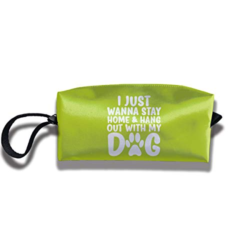 I Just Wanna Stay Home And Hang Out My Dog One Size Stationery Storage Bag Women